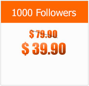 1000 Followers at $39.90