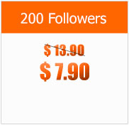 200 Followers at $7.90