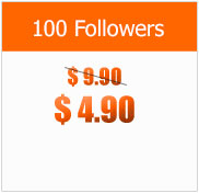 100 Followers at $4.90